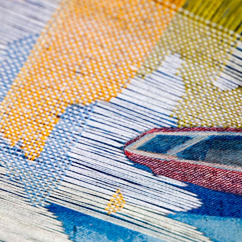 Malerei mit Stickerei Meike Lohmann